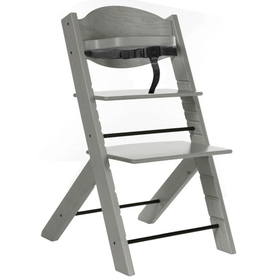 Treppy vysoká židle dřevitá šedá
