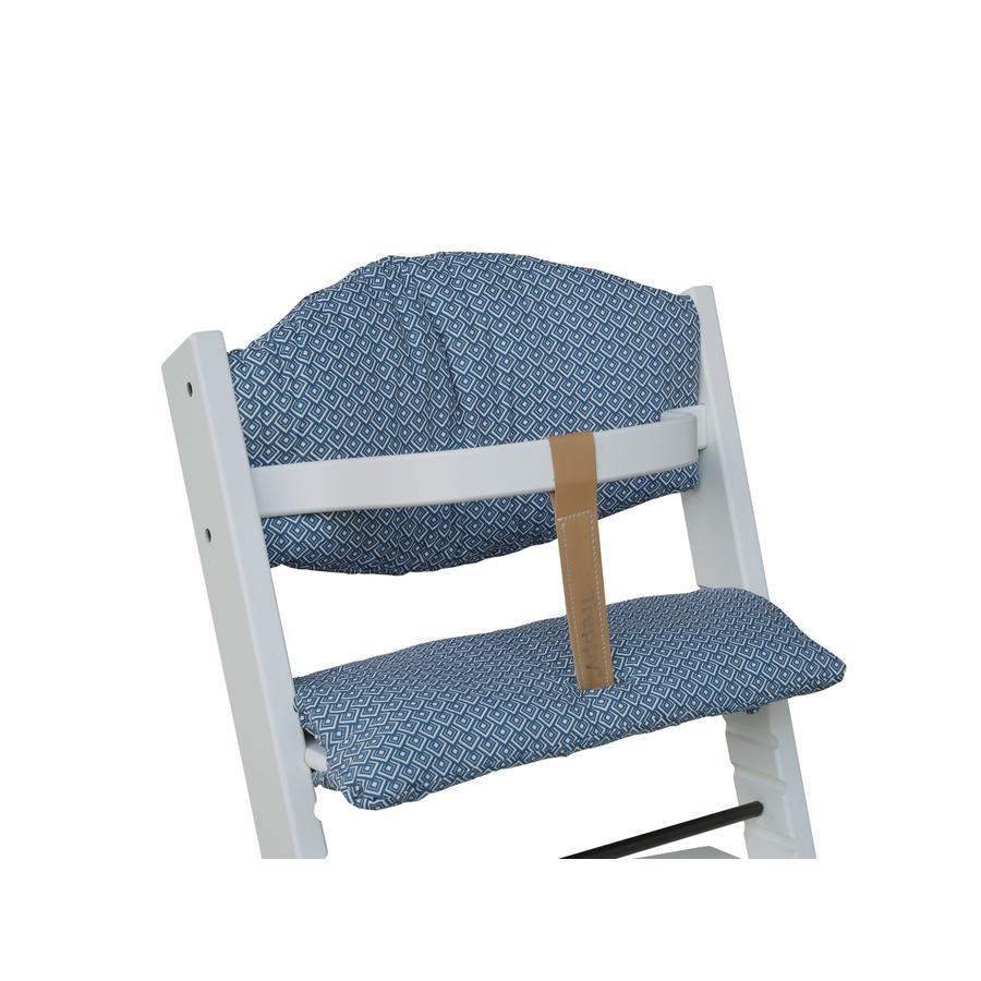 Treppy® Acolchado para trona Cubos azules