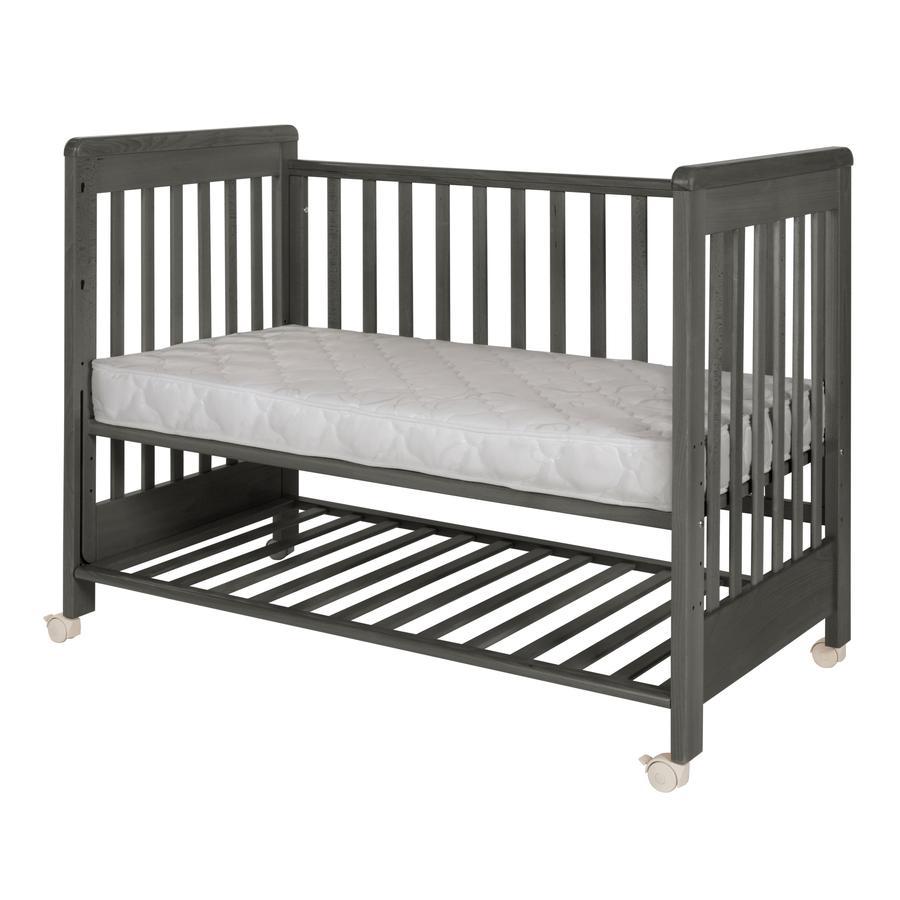 Treppy® Łóżeczko dostawne Dreamy Plus 2  woody gray 60 x 120 cm