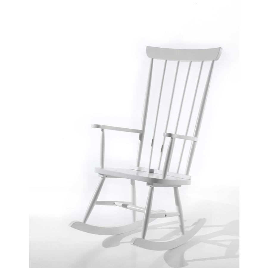 VIPACK Silla mecedora blanca