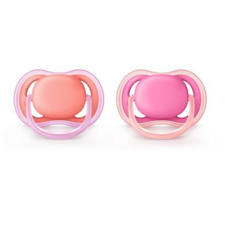 Philips Avent Ultra Air Schnuller SCF245/22 rosa / pink 0 - 18 Monate 2 Stück