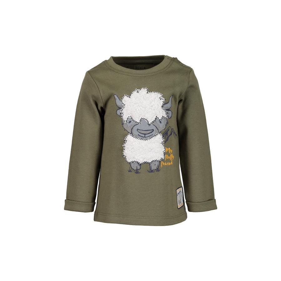 BLUE SEVEN Poikien pitkähihainen khaki-paita