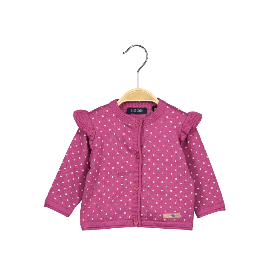 BLUE SEVEN Girls Strickjacke mauve