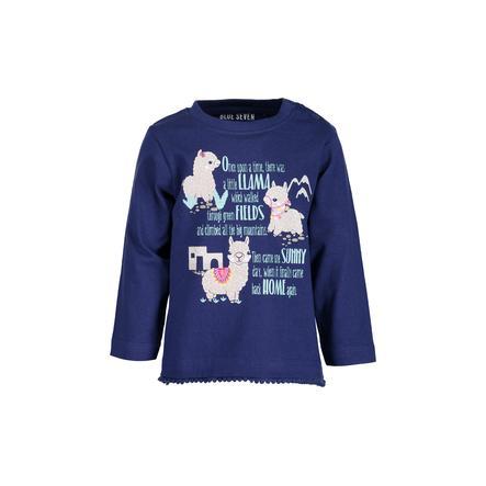 BLUE SEVEN Langermet skjorte for jenter ultramarine