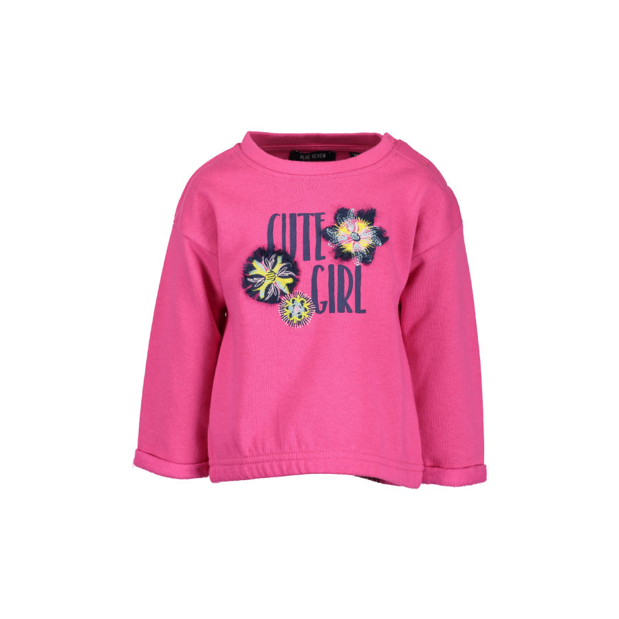 BLUE SEVEN Girls Baby Sweatshirt Magenta