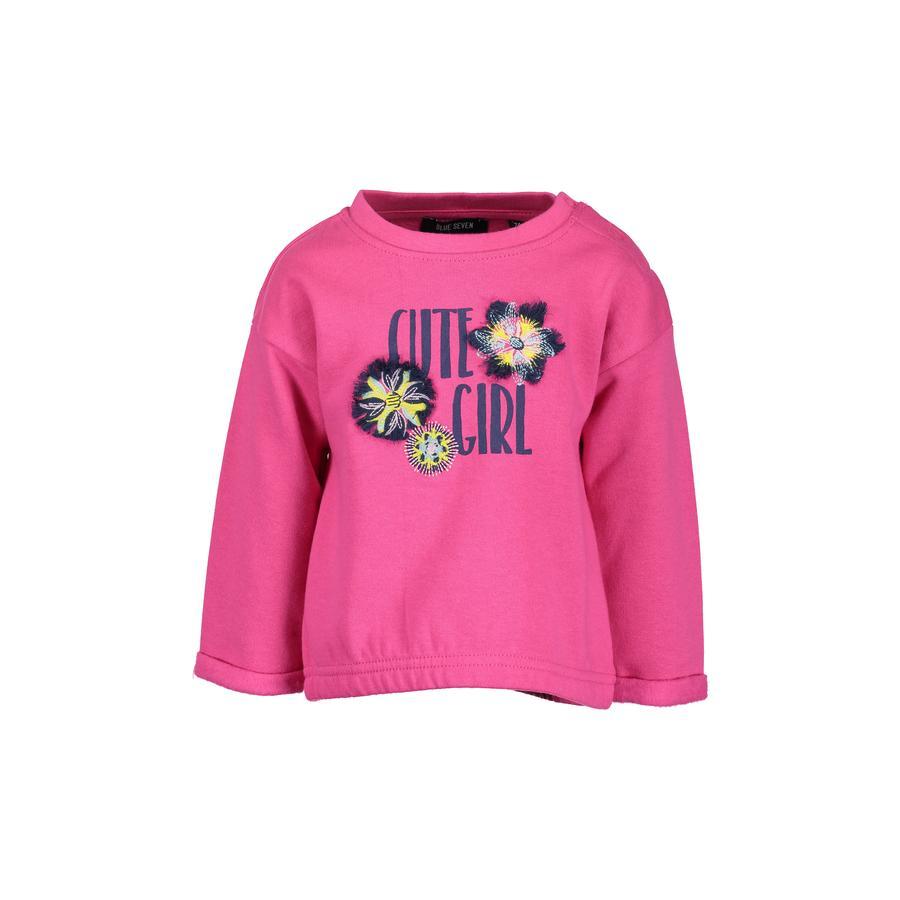 BLUE SEVEN Girls Baby Sweatshirt Magenta
