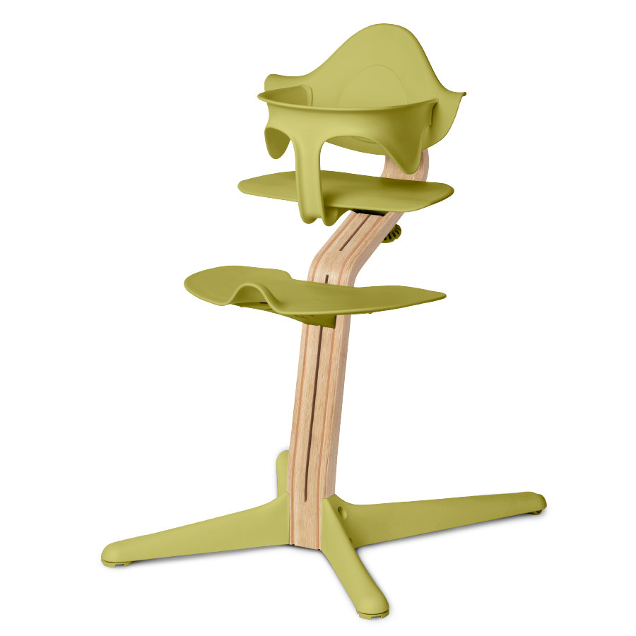 nomi by evomove Dětská židlička Dub s bukovými jádry White Oil/lime