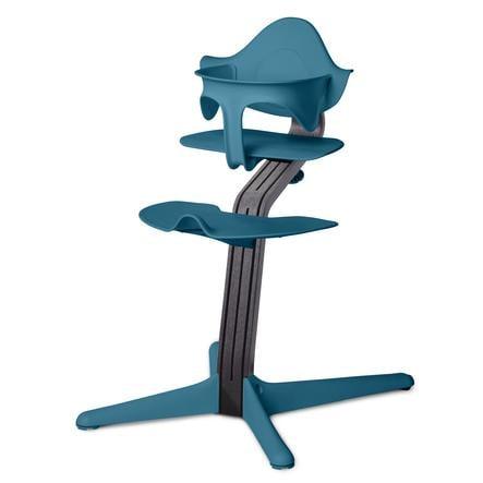 nomi by evomove Jídelní židlička Dub s bukovým jádrem Black/ocean
