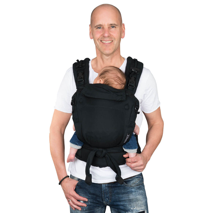 Hoppediz Babytrage Nabaca Basic-Set Regular schwarz