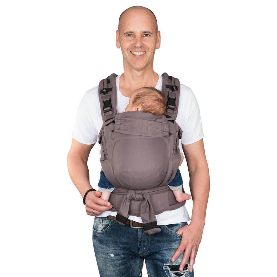Hoppediz Babytrage Nabaca Basic-Set Comfort grau