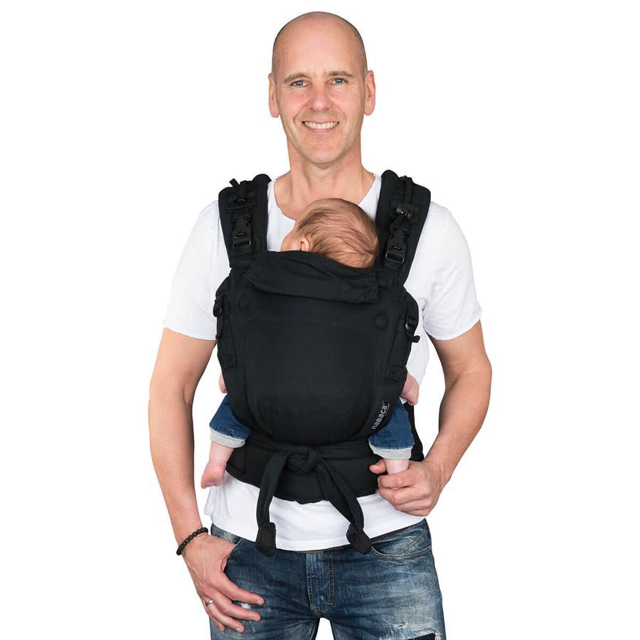Hoppediz Babytrage Nabaca Basic-Set Comfort schwarz