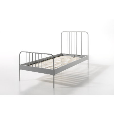 VIPACK Dětská kovová postel Jacky šedá 90 x 200 cm