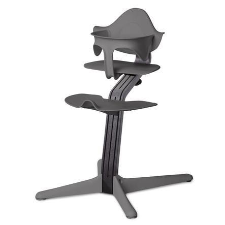 nomi by evomove jídelní židlička Oak Black Oil/Grey