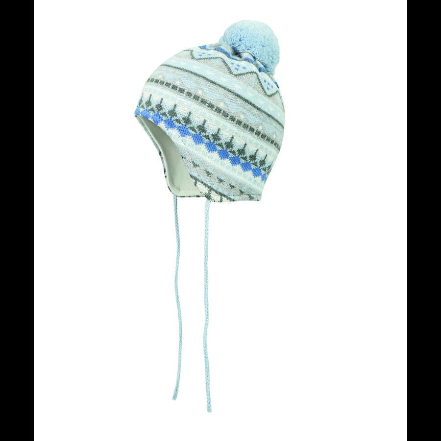 Döll Inca vázací čepice pletená, modrá