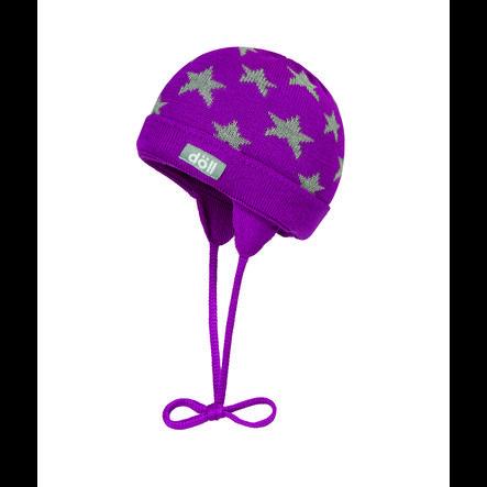 Döll Gorra de encuadernación de punto, púrpura
