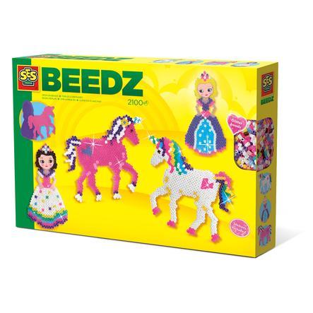 SES Creative® BEEDZ Bügelperlen Einhörner und Prinzessinnen