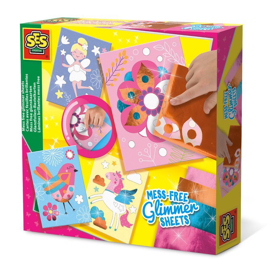 SES Creativ Karty rzemieślnicze z folią błyszczącą e® Glossy foil craft cards