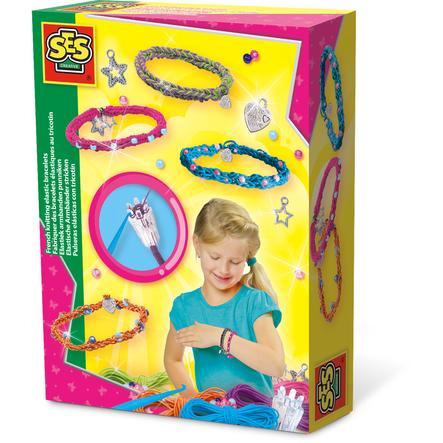 SES Creative® Elastische Armbänder stricken