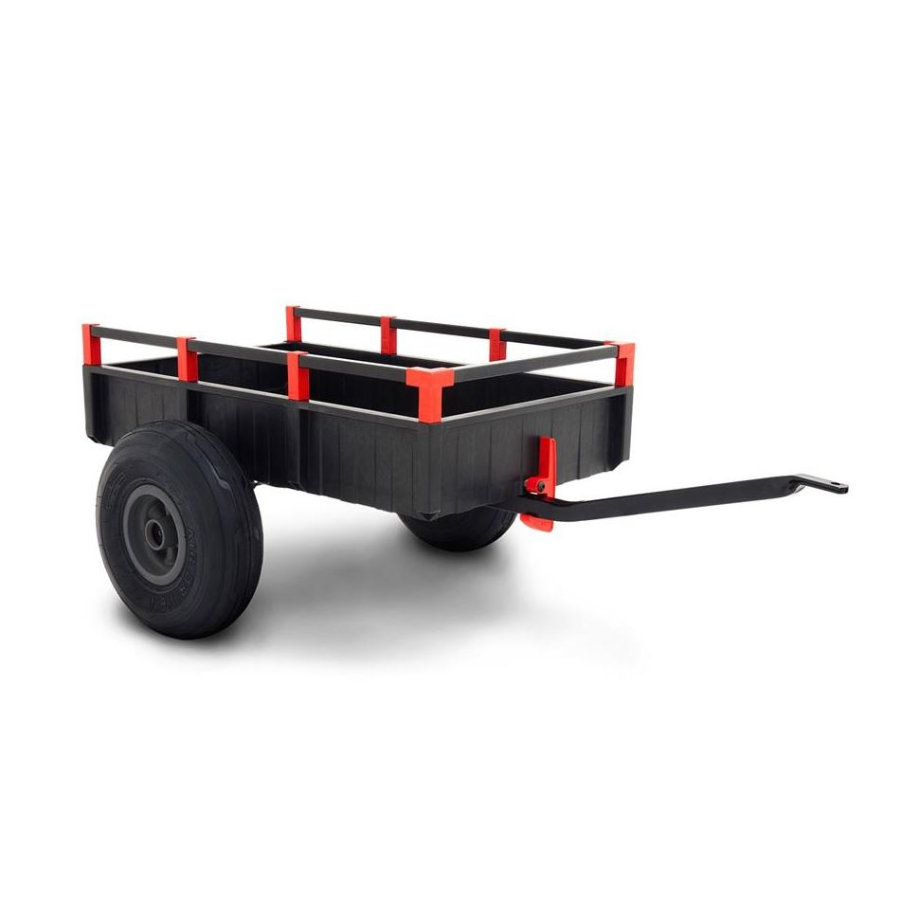 BERG Toys Remorque pour kart à pédales large, gris