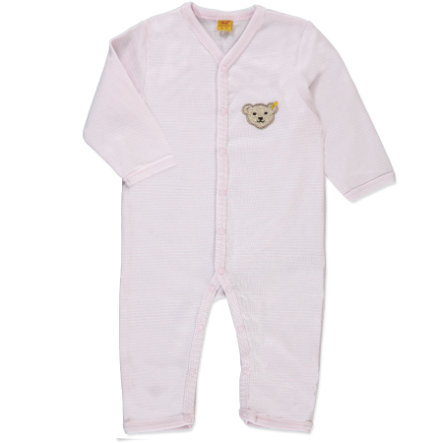 STEIFF Girls Baby Night Overall, stripes barely pink