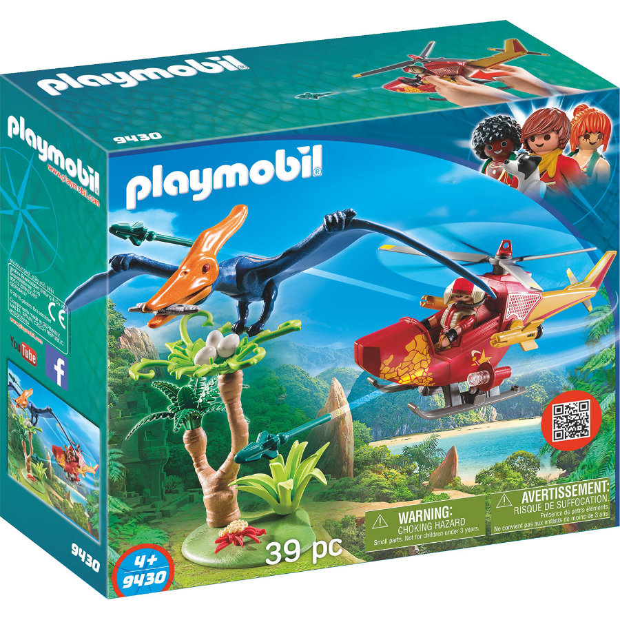 PLAYMOBIL® THE EXPLORERS Helikopter mit Flugsaurier 9430