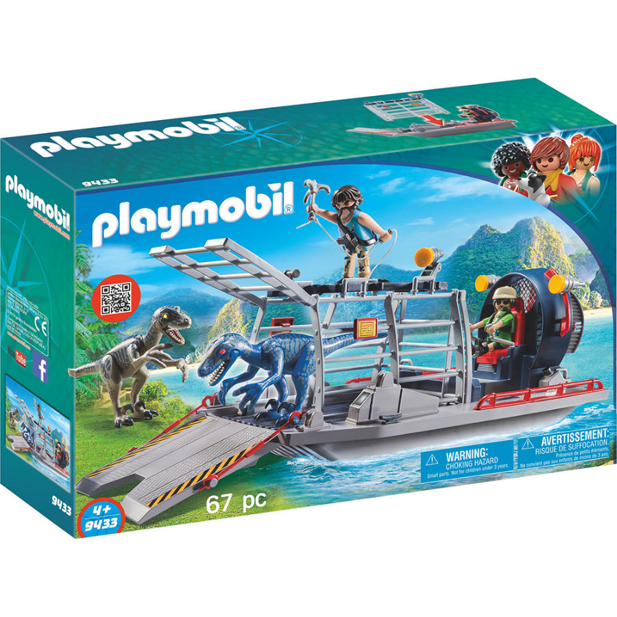 playmobil® THE EXPLORERS Propellerbåt med dinosauriebur 9433