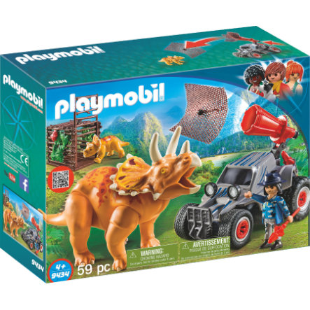 PLAYMOBIL® THE EXPLORERS Offroad buggy met dinovangnet 9434