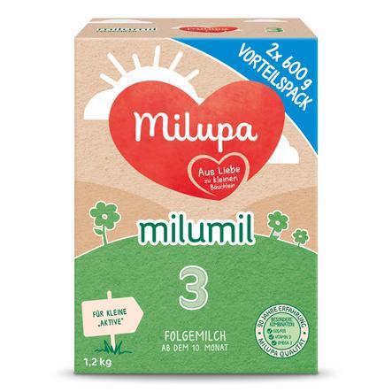 Milupa Folgemilch Milumil 3 2 x 600 g ab dem 10. Monat Vorteilsgröße