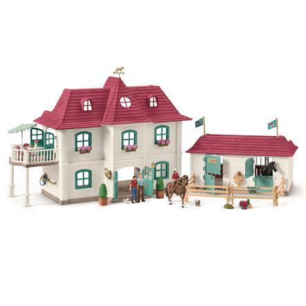 Schleich Stor hestegård med hus og stald
