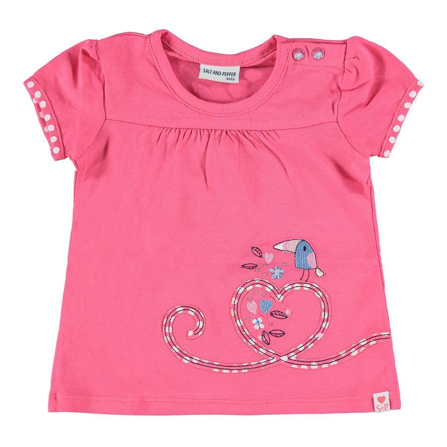 SALT AND PEPPER Baby T-Shirt Love stenen zomer roze