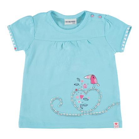 SALT AND PEPPER Baby T-Shirt Love kamienie Miłość lekki cyjan