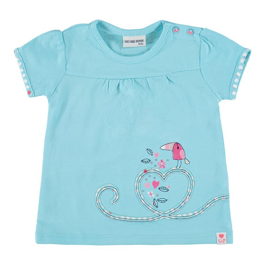 SALT AND PEPPER Baby T-Shirt Love stenen licht cyaan