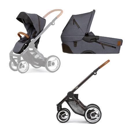 Mutsy EVO Kinderwagen compleet Industrial Lava Grey/ Black-Brown