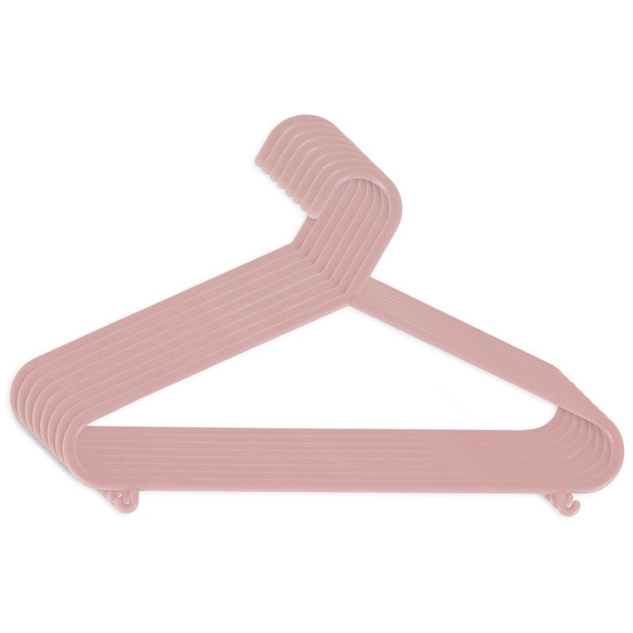 bieco Cintre enfant plastique rose, lot de 8