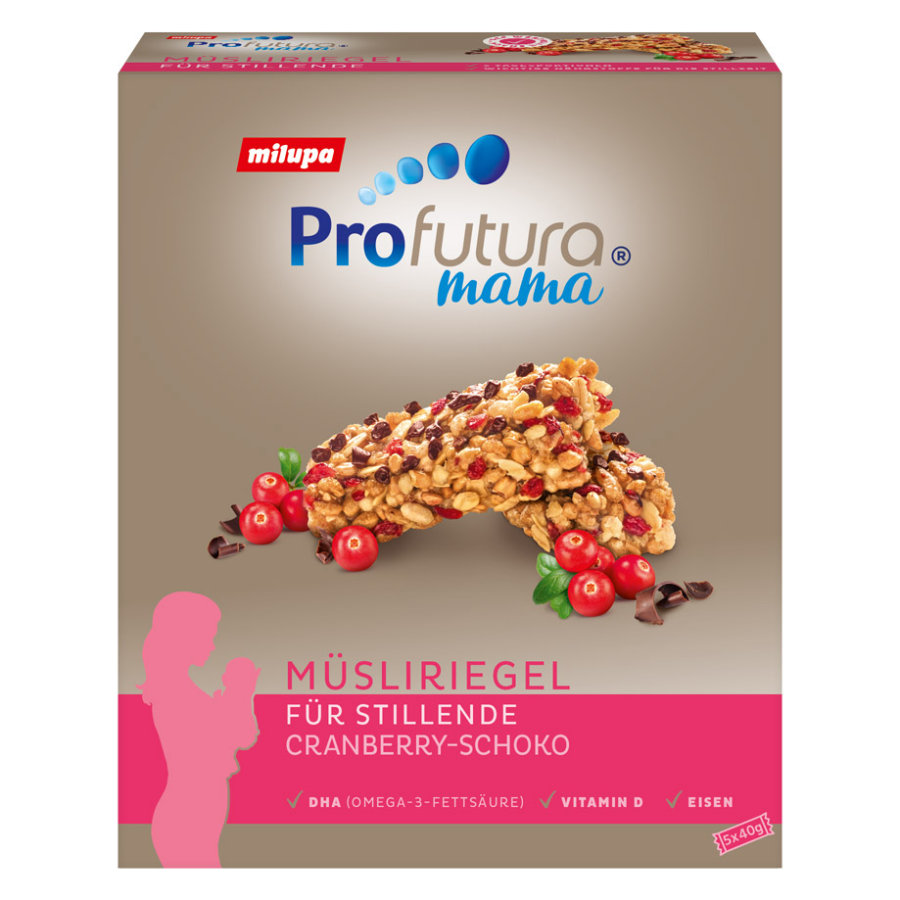 Profutura Mama Muesli Bar Chocolate-Cranberry 5x40g