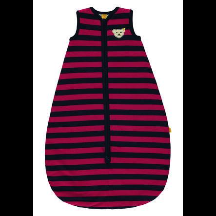 Steiff Gigoteuse bébé coton rayures rouge/noir