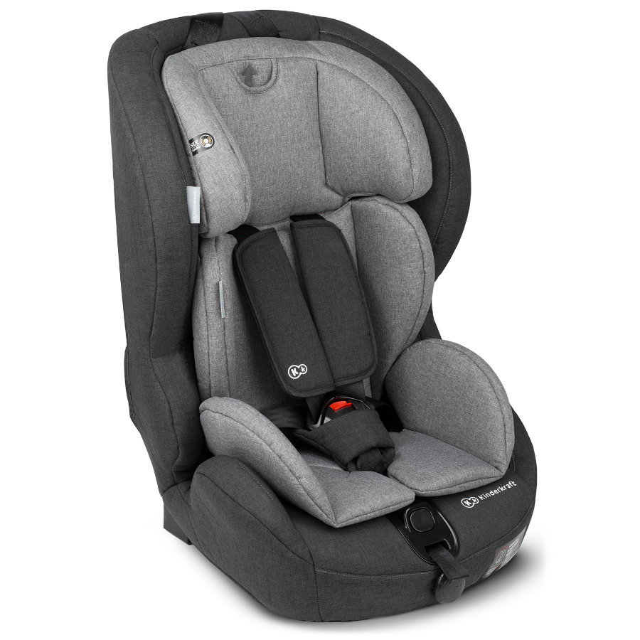 Kinderkraft Siège auto groupe 1/2/3 Safety-Fix Isofix, noir/gris