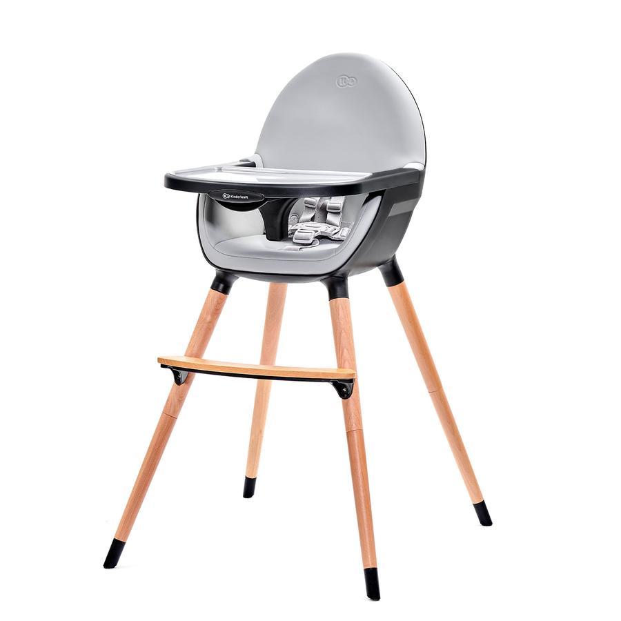 Kinderkraft jídelní židlička Fini grey/black
