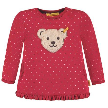 Steiff Girls Sweatshirt, rot gepunktet