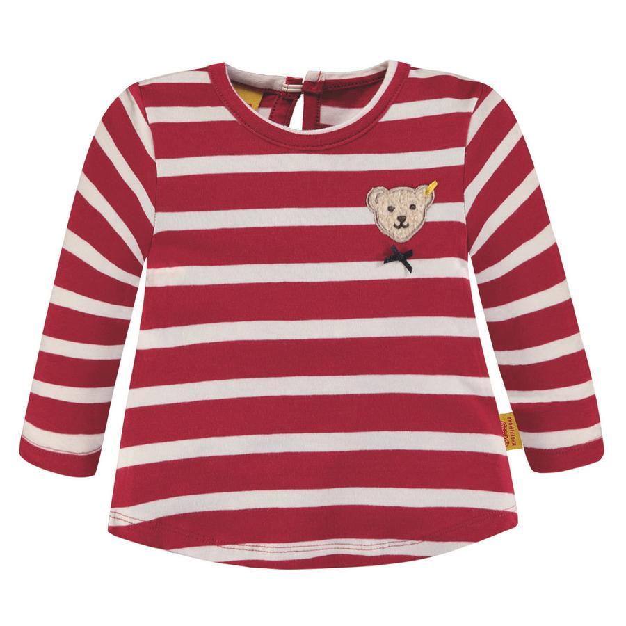 Steiff Girls Langarmshirt, rot gestreift