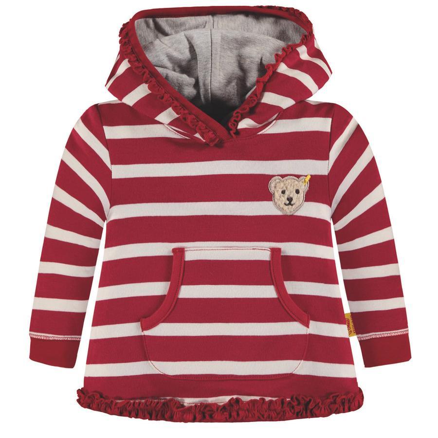 Steiff Girls Sweatshirt, rot gestreift
