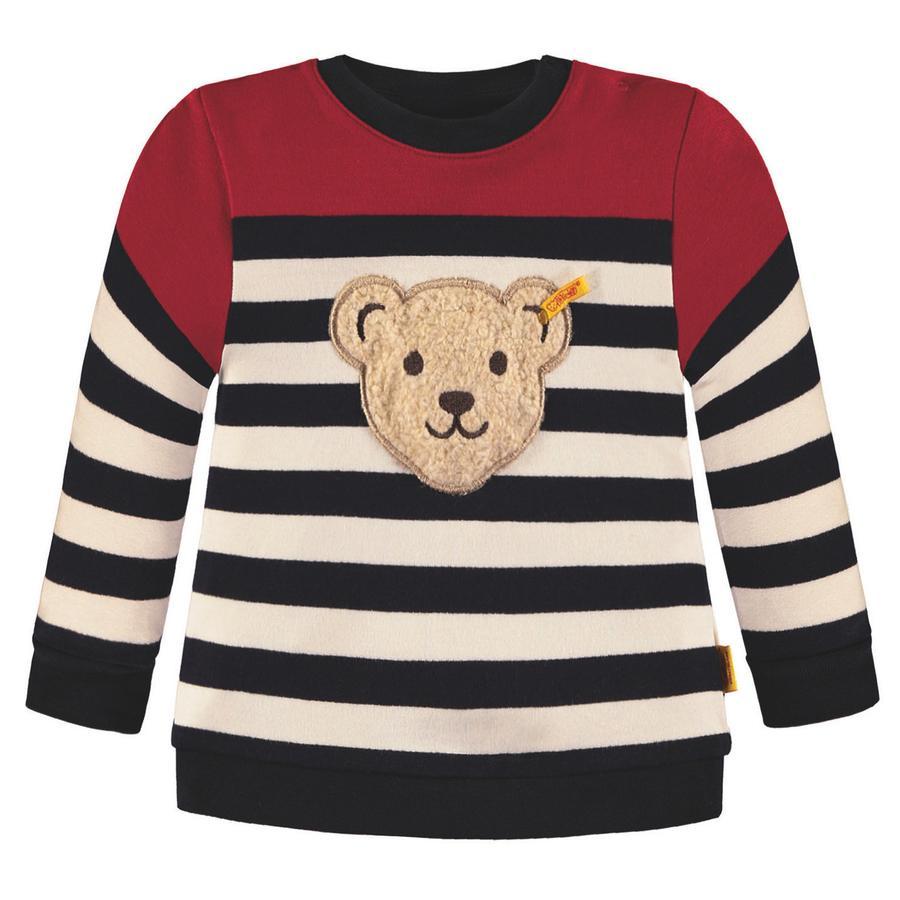 Steiff Boys Sweatshirt, marine gestreift