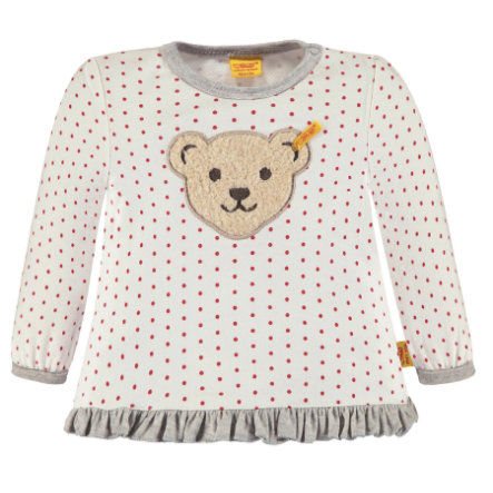 Steiff Girls Sweatshirt, weiß gepunktet