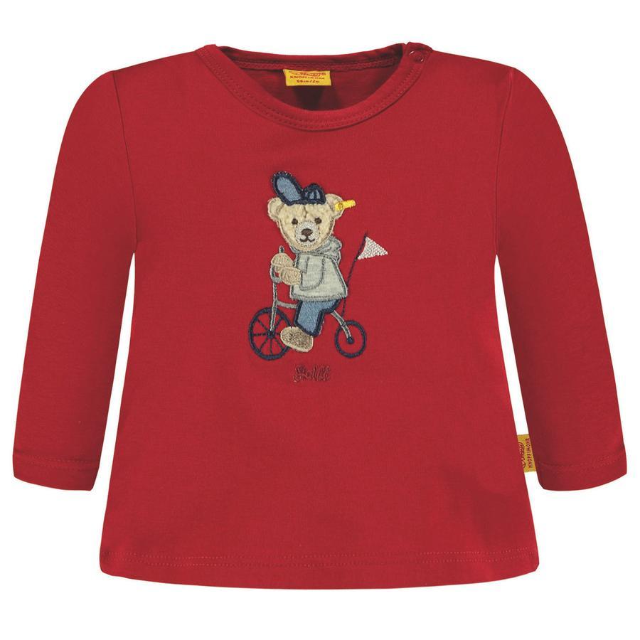 Steiff Chlapecké tričko s dlouhým rukávem, červené