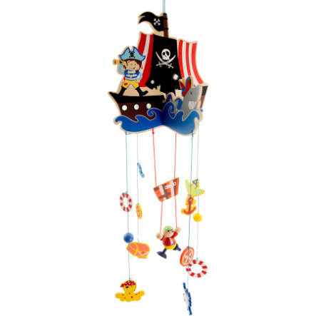 BIECO Mobile en bois Pirates