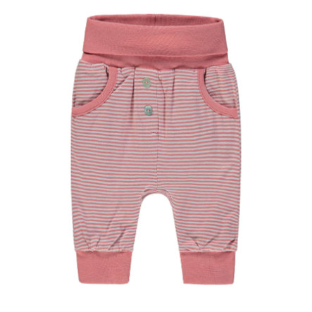 Steiff Girls Jogginghose, rosa gestreift
