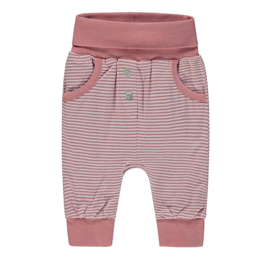 Steiff Girls Spodnie jogging, różowy, w paski