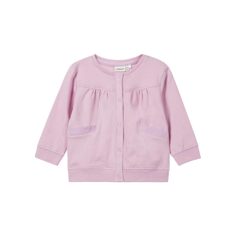 name it Girl s Sweat veste Lonnie brume mauve Lonnie