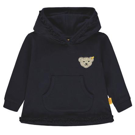 Steiff Girls Sweatshirt mit Kapuze, marine
