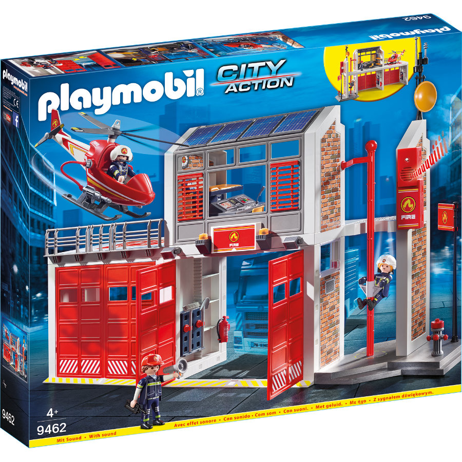 PLAYMOBIL® CITY ACTION Stor brandstation 9462